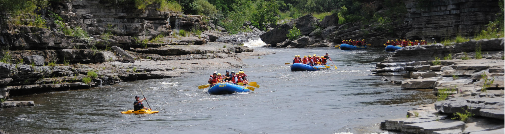 White water rafting is not a water park ride!